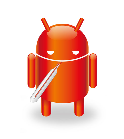 Android infected with malware